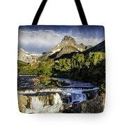 Swiftcurrent Falls Glacier Park 3 Tote Bag