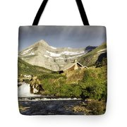 Swiftcurrent Falls Glacier Park Tote Bag
