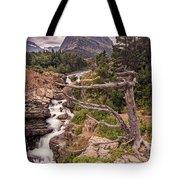 Swiftcurrent Lake Falls Tote Bag