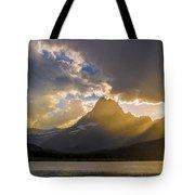 Swiftcurrent Lake Sundown Glacier N P Tote Bag