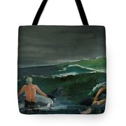 Swim At Your Own Risk Tote Bag