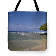 Swimmer In Paradise Tote Bag