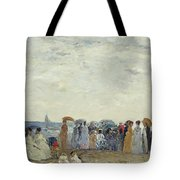 Swimmers On Trouville Beach Tote Bag