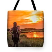 Swimmers Sunset Tote Bag