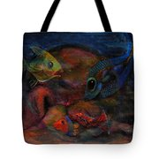Swimming At The Rusty Heart Tote Bag