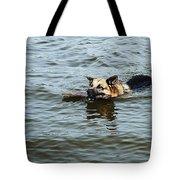 Swimming Dog Tote Bag