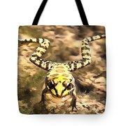 Swimming Frog Tote Bag