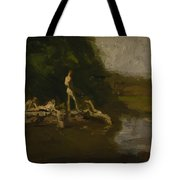 Swimming Hole Sketch Tote Bag