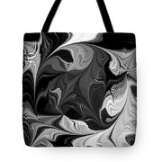 Swimming In Black And White - Abstract Tote Bag