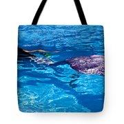 Swimming Mermaid Tote Bag