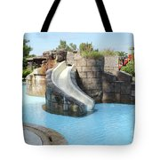 Swimming Pool With Slide For Children Tote Bag