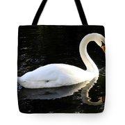 Swimming Swan Tote Bag