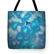 Swimming Through The Clouds Tote Bag