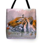 Swimming Tiger Tote Bag