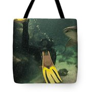 Swimming With The Sharks Tote Bag
