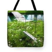 Swing In The Daisies With Bridge Tote Bag
