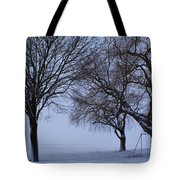 Swing In Winter Tote Bag