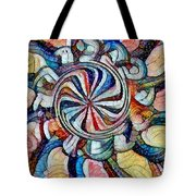 Swirl 12 Tote Bag
