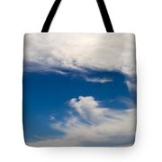 Swirl Of Clouds In A Blue Sky Tote Bag