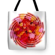 Swirling Colored Leaves Tote Bag