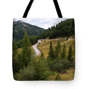 Swirling Mountain Road Tote Bag
