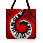 Swirling Piano Keys- Music In Motion Tote Bag