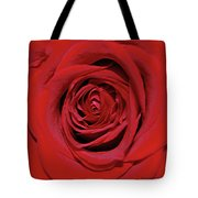 Swirling Red Silk Tote Bag