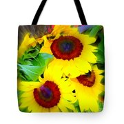 Swirling Sunflowers Tote Bag