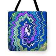 Swirling Wave Tote Bag