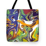 Swirls Drip Art Tote Bag