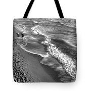 Swirls Of Black And White Tote Bag