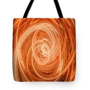 Swirls Of Orange Tote Bag