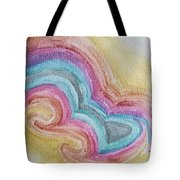 Swirly Rainbow Tote Bag