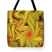 Swirly, Yellow Leaves Tote Bag