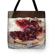 Swiss Custard Tart With Sour Cherries Tote Bag