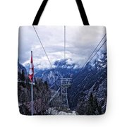 Swiss Funicular Tote Bag