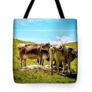 Happy Swiss Cows Tote Bag