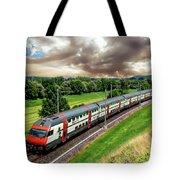 Swiss Passenger Train Tote Bag