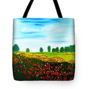 Swiss Poppies Tote Bag