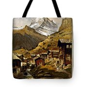 Swiss Travel Poster, 1898 Tote Bag