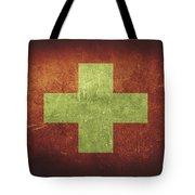 Switzerland Distressed Flag Dehner Tote Bag