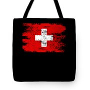 Switzerland Gift Country Flag Patriotic Travel Shirt Europe Light Tote Bag