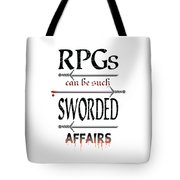 Sworded Affairs Light Tote Bag