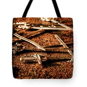 Swords And Knight Fights Tote Bag