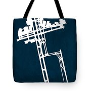 Syd Sydney Kingsford Smith Airport In Mascot Australia Runway Si Tote Bag