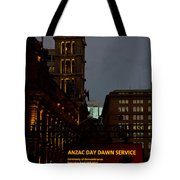 Sydney Clock On Anzac Day At Dawn Tote Bag