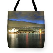 Sydney Harbor At Blue Hour Tote Bag