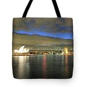 Sydney Harbor At Blue Hour Tote Bag