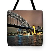 Sydney Harbor Bridge Night View Tote Bag