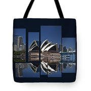 Sydney Harbour Collage Tote Bag